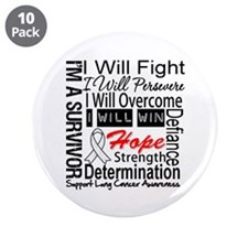 "Lung Cancer Persevere 3.5"" Button (10 pack)"