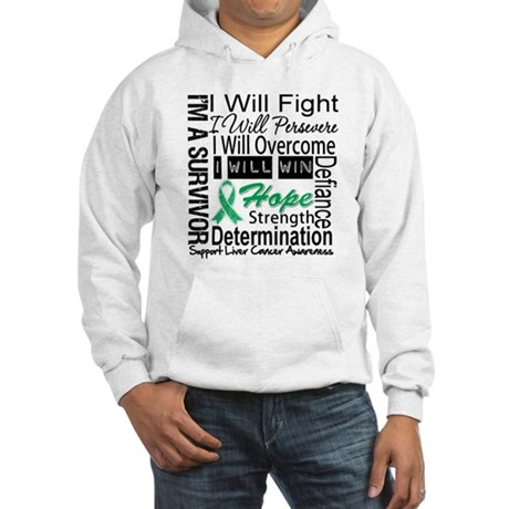 Liver Cancer Persevere Hooded Sweatshirt