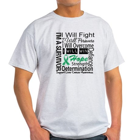 Liver Cancer Persevere Light T-Shirt