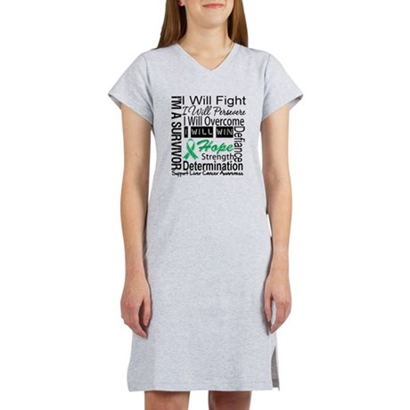 Liver Cancer Persevere Women's Nightshirt
