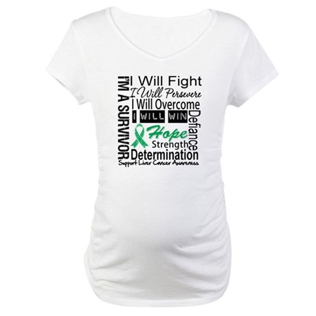 Liver Cancer Persevere Maternity T-Shirt