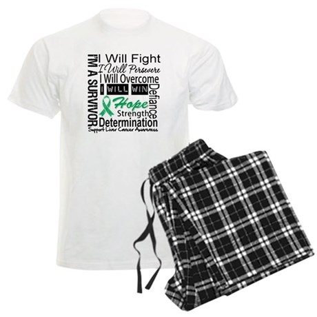 Liver Cancer Persevere Men's Light Pajamas