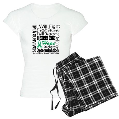 Liver Cancer Persevere Women's Light Pajamas