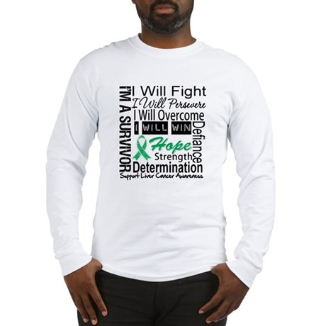 Liver Cancer Persevere Long Sleeve T-Shirt
