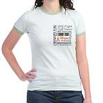 Leukemia Persevere Jr. Ringer T-Shirt