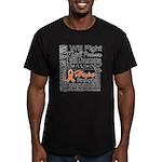 Leukemia Persevere Men's Fitted T-Shirt (dark)