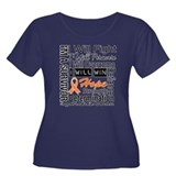 Leukemia Persevere Women's Plus Size Scoop Neck Da