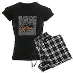 Leukemia Persevere Women's Dark Pajamas