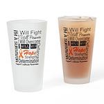 Leukemia Persevere Drinking Glass