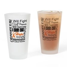 Leukemia Persevere Drinking Glass