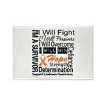 Leukemia Persevere Rectangle Magnet (10 pack)