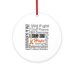 Leukemia Persevere Ornament (Round)