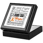 Leukemia Persevere Keepsake Box
