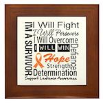 Leukemia Persevere Framed Tile