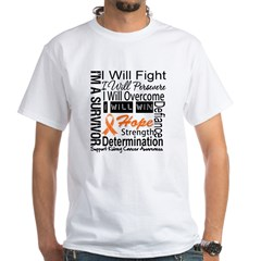Kidney Cancer Persevere White T-Shirt