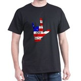 I Love USA Sign Language hand T-Shirt