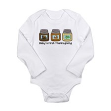 Cute Babies 1st thanksgiving Long Sleeve Infant Bodysuit