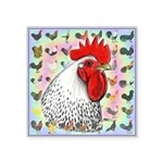 "Roosters! Square Sticker 3"" x 3"""