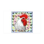 Roosters! 35x21 Wall Decal