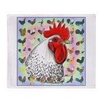 Roosters! Throw Blanket