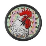 Roosters! Large Wall Clock