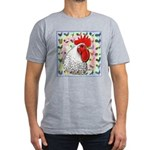 Roosters! Men's Fitted T-Shirt (dark)
