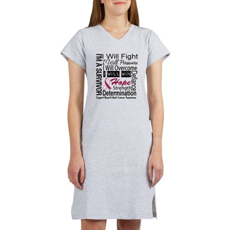 Head Neck Cancer Persevere Women's Nightshirt