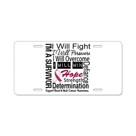 Head Neck Cancer Persevere Aluminum License Plate