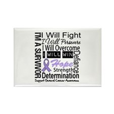 General Cancer Persevere Rectangle Magnet (100 pac