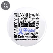 "Esophageal Cancer Persevere 3.5"" Button (10 pack)"