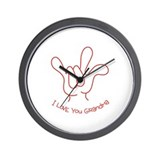 """I Love You Grandma"" Sign Language Wall Clock"