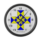Rhode Island Large Wall Clock