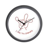 """I Love You Grandpa"" Sign Language Wall Clock"