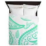 Lime Paisley Queen Duvet