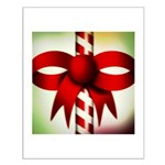 Happy Holidays Candy Cane Small Poster