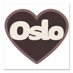 Oslo Square Car Magnet 3
