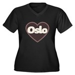 Oslo Women's Plus Size V-Neck Dark T-Shirt