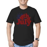 4th of July Men's Fitted T-Shirt (dark)