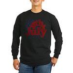 4th of July Long Sleeve Dark T-Shirt