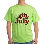 4th of July Green T-Shirt