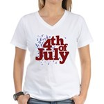 4th of July Women's V-Neck T-Shirt
