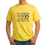 Sanity Joke Yellow T-Shirt