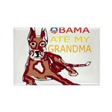 OBAMA ATE MY GRANDMA.png Rectangle Magnet