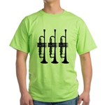 Triple Trumpet Green T-Shirt