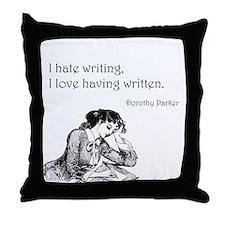 Love/Hate Writing Throw Pillow