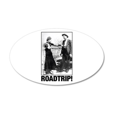 ROADTRIP! 20x12 Oval Wall Decal