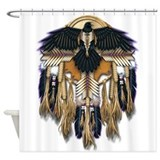 Native Crow Mandala Shower Curtain