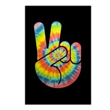 Tie-Dye Peace Hand Postcards (Package of 8)
