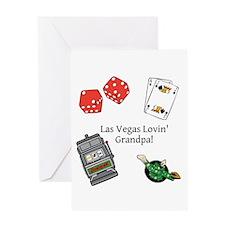 Las Vegas Lovin Grandpa Greeting Card