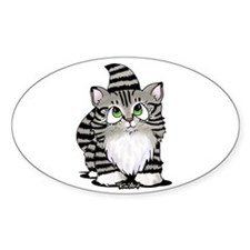 Tabby Cutie Face Kitty II Decal